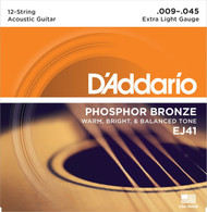 D'Addario Phosphor Bronze 12-String 09-45 Extra Light (EJ41)