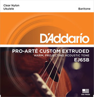 D'Addario EJ65B Pro-Arte Custom Extruded Nylon Ukulele Strings, Bariton