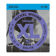 D'Addario Nickel Wound Electric 11-49 Medium/Blues-Jazz Rock (EXL115) Package Front