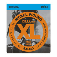 D'Addario Nickel Wound Electric 10-52 Light Top/Heavy Bottom (EXL140) Packaging Front