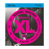 D'Addario Nickel Wound Bass 45-100 Light Long Scale (EXL170) Package Front