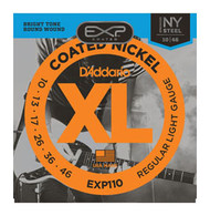 D'Addario Coated Nickel Electric 10-46 Light (EXP110) Packaging Front