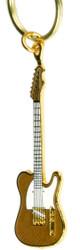 Harmony Jewelry Fender Telecaster Electric Guitar Keychain Gold