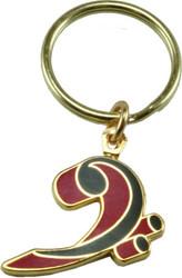 Harmony Jewelry Key Chain Bass Clef (FPK553GRD)