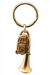 Tuba Key Chain - 24k Gold Plate