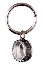 Harmony Jewelry Snare Drum Key Chain Black