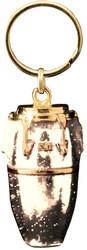 Harmony Jewelry Conga Drum Keychain Gold and White