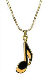 Eighth Note Necklace - Gol