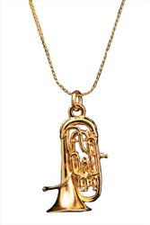 Euphonium Necklace - Gold