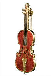 Harmony Jewelry Stradivarius Violin Pin (FPP543GM)