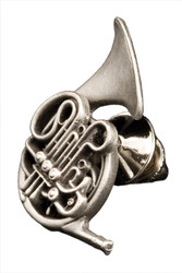 French Horn Pin - Pewte