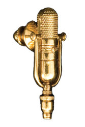 Harmony Jewelry RCA 77D/DX Ribbon Microphone Pin - 24k Gold Plated (FPP572G)