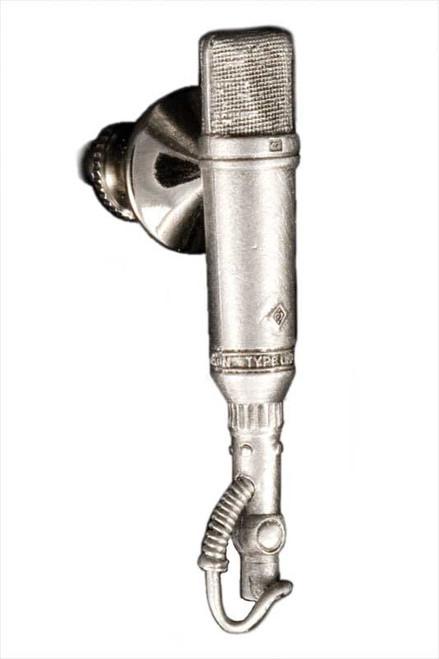 Harmony Jewelry Neumann U-67/87 Microphone Pin Pewter (FPP580PW)
