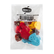 Herco Thumbpicks Flat Medium 24 Picks (HE112)