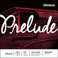 D'Addario Prelude Cello Single A String, 4/4 Scale, Medium Tension (J1011 4/4M)