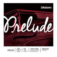 D'Addario Prelude Cello Single C String, 4/4 Scale, Medium Tension (J1014 4/4M)