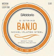 D'Addario Banjo Strings Nickel Medium 5-String (J61)