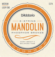 D'Addario Mandolin Strings Phosphor Bronze, Medium