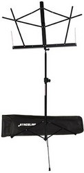 Stageline Music Stand - Black with Bag (MS2BKB)