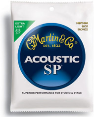 Martin MSP3000 SP 80/20 Bronze Acoustic Guitar Strings, Extra Ligh
