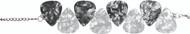 PickC Jewelry Guitar Pick Bracelet - Charcoal, White & Silve (P1001/02)