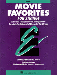 Essential Elements Movie Favorites For Strings, Violin Book (Parts 1/2), Violin