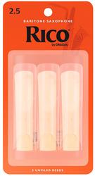 Rico Baritone Sax Reeds 3-Pack #2.5 (RLA0325)