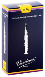 Vandoren Soprano Sax Traditional Reeds 10-Pack 3.5 (SR2035)