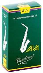 Vandoren Alto Sax Java Reeds 10-Pack 2.5 (SR2625)