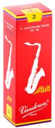 Vandoren Tenor Sax Java Red Reeds 5-Pack 2 (SR272R)