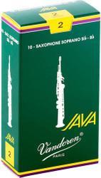 Vandoren Soprano Sax Java Reeds 10-Pack 2 (SR302)