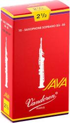 Vandoren Soprano Sax Java Red Reeds 10-Pack 2.5 (SR3025R)