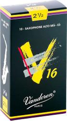 Vandoren Alto Sax V16 Reeds 10-Pack 2.5 (SR7025)