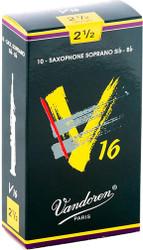 Vandoren Soprano Sax V16 Reeds 10-Pack 2.5 (SR7125)
