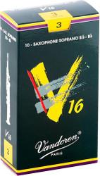 Vandoren Soprano Sax V16 Reeds 10-Pack 3 (SR713)