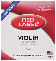 Super Sensitive Red Label 2103 Violin String Set, 1/4 (SS210*O1/4)