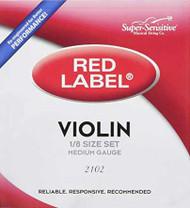 Super Sensitive Red Label 2102 Violin String Set 1/8 (SS210*O1/8)