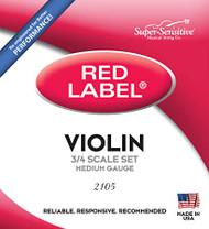 Super Sensitive Red Label 2105 Violin String Set 3/4 (SS210*O3/4)