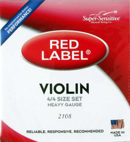 Super Sensitive Red Label 2108 Violin String Set 4/4 Heavy (SS210*O4/4)
