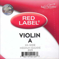 Super Sensitive Red Label 2123 Violin A String 1/4 (SS212*O1/4)