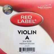 Super Sensitive Red Label 2125 Violin A String 3/4 (SS212*O3/4)