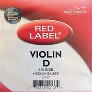 Super Sensitive Red Label 2137 Violin D String 4/4 (SS213*M4/4)