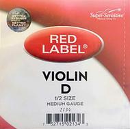 Super Sensitive Red Label 2134 Violin D String 1/2 (SS213*O1/2)