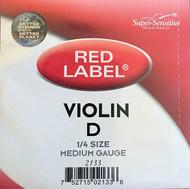 Super Sensitive Red Label 2133 Violin D String 1/4 (SS213*O1/4)