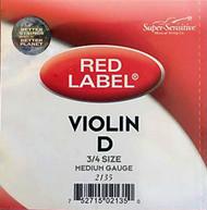 Super Sensitive Red Label 2135 Violin D String 3/4 (SS213*O3/4)