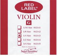 Super Sensitive Red Label 2143 Violin G String, 1/4 (SS214*O1/4)