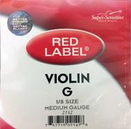 Super Sensitive Red Label 2142 Violin G String 1/8 (SS214*O1/8)
