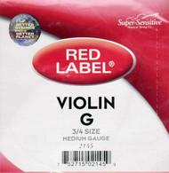 Super Sensitive Red Label 2145 Violin G String 3/4 (SS214*O3/4)