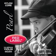 Super Sensitive Red Label Pearl Violin String Set 1/4 Siz