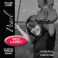 Super Sensitive Red Label Pearl Nylon Core Violin String Set 1/2 Siz